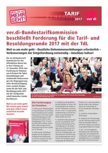 Tarifrunde ÖD der Länder 2017: Forderungsbeschluss