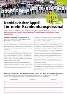 Norddeutscher Appell für mehr Krankenhauspersonal