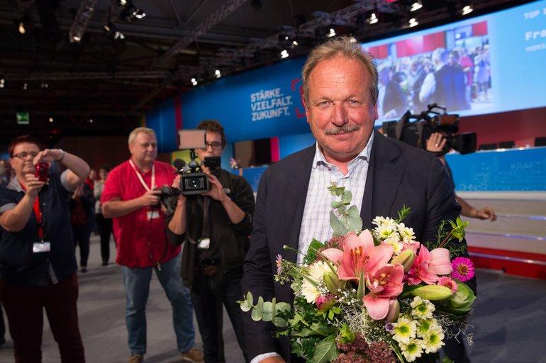 Frank Bsirske nach seiner Wiederwahl zum ver.di-Bundesvorsitzenden