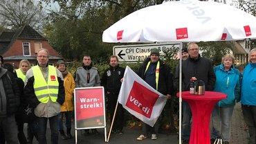 Warnstreik bei der CPI Druckerei Clausen & Bosse GmbH in Leck