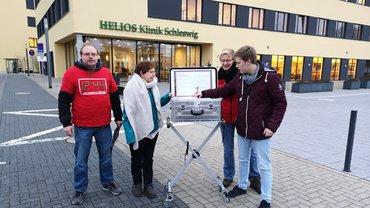 Olympischer Brief in der Helios Klinik Schleswig angekommen!