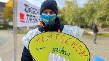 Warnstreik beim Westküstenklinikum Heide am 12.10.2020