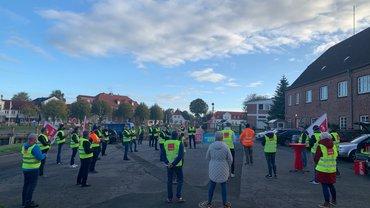 Warnstreik beim Wasserstraßen- und Schifffahrtsamt Tönning am 12.10.2020
